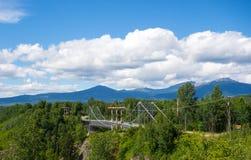 Imponująco most w Yukon terytorium zdjęcia royalty free