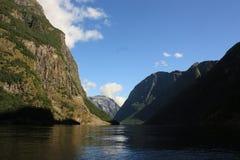 Imponująco Nærøyfjord Fjord w Norwegia Scandinavia obrazy stock