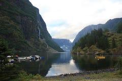 Imponująco Nærøyfjord Fjord w Norwegia Scandinavia fotografia royalty free