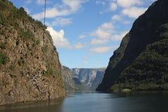Imponująco Nærøyfjord Fjord w Norwegia Scandinavia zdjęcia royalty free