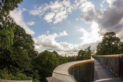 Imponująco Drzewny dom w Królewskich Kew ogródach, Londyn Fotografia Royalty Free