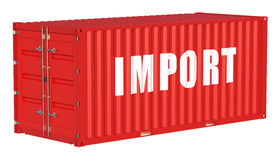 Import concept with cargo container Royalty Free Stock Images