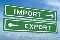 Import- eller exportbegrepp vektor illustrationer