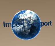 Import and Export. 3d Presentation Abstract, Logo and Symbol Royalty Free Stock Image