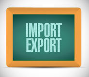 Import export board sign illustration design Stock Photos
