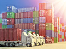 Import, export and business logistic concept Royalty Free Stock Image