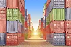 Import, export and business logistic concept Royalty Free Stock Photography