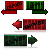 Import and export vector illustration