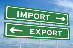 Import or export concept Royalty Free Stock Photo