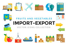 Import export fruits and vegetables delivery Stock Photography