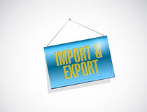 import and export hanging banner. illustration Stock Photo