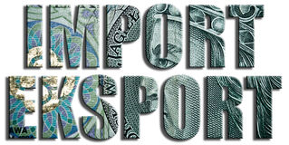 Import export. 100 PLN or Polish Zloty texture. Royalty Free Stock Images