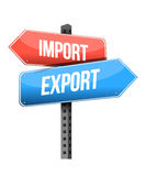Import and export road sign Stock Photos