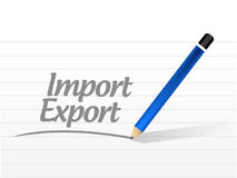 Import export sign message illustration design Royalty Free Stock Photos