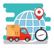 Import free shipping set icons. Vector illustration design vector illustration