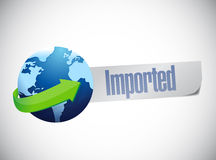 Import globe world map illustration design Royalty Free Stock Images
