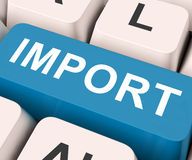 Import Key Means Importing Or Imports Royalty Free Stock Images