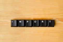 Import word Stock Image