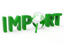 Import Worldwide Means Buy Abroad And International Royalty Free Stock Images