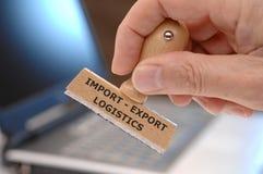 Importação - logística da exportação fotos de stock
