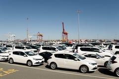 Importación del vehículo - Fremantle - Australia imagenes de archivo