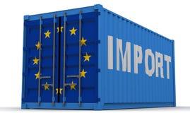 Importaciones de la unión europea stock de ilustración
