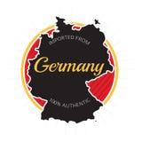 Importado de la etiqueta de Alemania Imagen de archivo libre de regalías