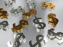 The great finances. The importance of the economy and the money, it is necessary to have well prepared our finances to have a good economy, the symbol or sign of Royalty Free Stock Photo