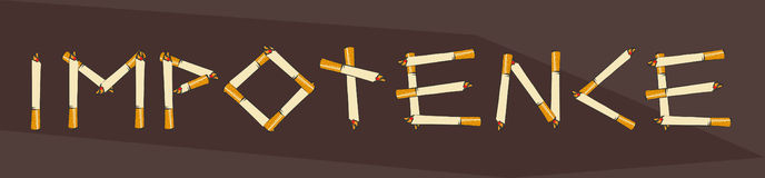 Importance lettering made of cigarettes, vector illustration Stock Photo