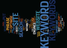 The Importance Of Relevant Keywords Text Background  Word Cloud Concept Stock Images