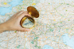 Importance to know the right direction. Stock Images