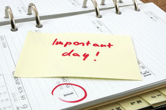 Importand day. It is an importand day in the business Royalty Free Stock Photo