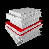 Important book. Red book among white books, concept of special or important book Stock Photo