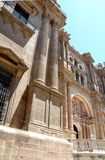 Important building in downtown Malaga in Spain Stock Photography