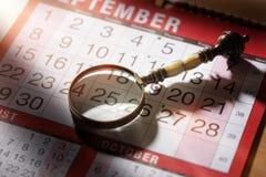 Important calendar date stock photography