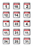Important calendar days Stock Image