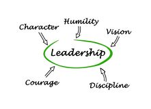 Leadership. Important components of good leadership vector illustration