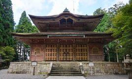 Kaidan-in, Mount Hiei. An Important Cultural Asset of Japan, here Buddhist priests are ordained by receiving the commandments of Buddhism royalty free stock image