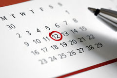 Important date royalty free stock image