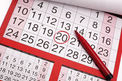 Important date stock photography