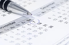 Important date Royalty Free Stock Photography
