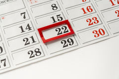 Important Date. Important Day On Calendar On White Background stock images