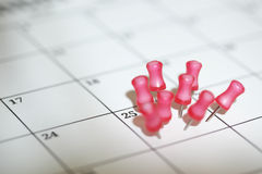 Important date. Marked on a calendar royalty free stock photos