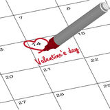 Important day for your girlfriend. Royalty Free Stock Images