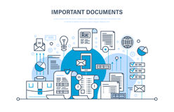 Free Important Documents Concept. Business Documents, Business Accounts, Working Reporting Files. Royalty Free Stock Images - 97990819