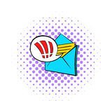 Important e-mail icon, pop-art style Stock Images