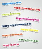 Important Events In A Year Stickers With Needle Stock Images