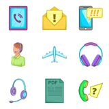 Important file icons set, cartoon style Stock Images
