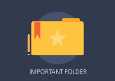 Important folder concept flat icon Stock Photos