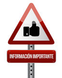 Important information like Spanish sign Stock Photo